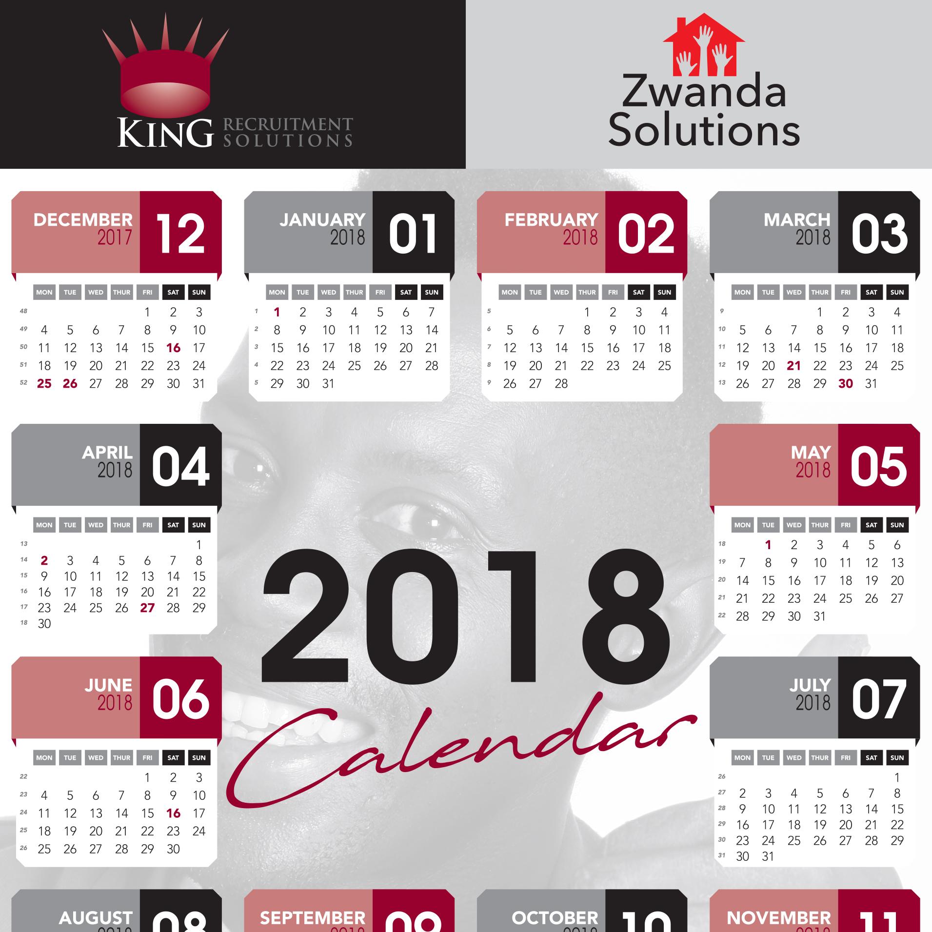 King Recruitment Calendar